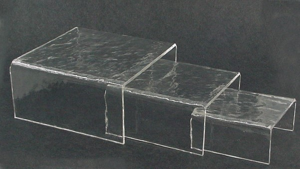 Set of 3 Rippled Acrylic Risers - photo copyright 2010 CollectiblesRome