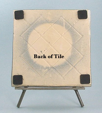 Rowe Pottery Works Dealer Tile and Stand - photo copyright 2010 CollectiblesRome