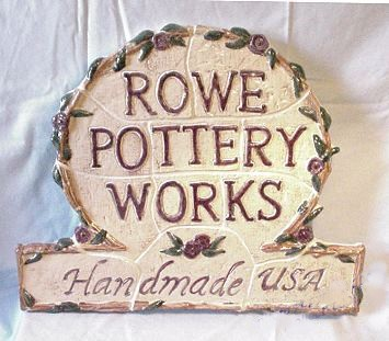 Rowe Pottery Works Large Wall Tiled Sign - photo copyright 2009 CollectiblesRome